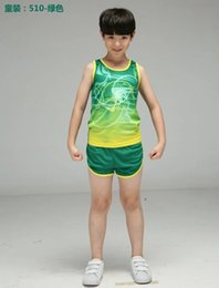Discount running speed suit - kids tracksuits boys Fast Speed Track and Field games sets children sports Running suits youth athletic garment free shi