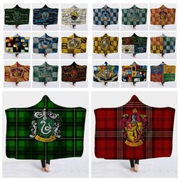 Designs For Beds NZ - harry potter design Hooded Blanket for Kids Adult Sherpa Winter Fleece Blankets Cape Home Sofa Bedding Travel Cover KKA6252