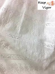 Discount embroidery direct - NEW! factory directing sale (1yard) 100% cotton white good quality full embroidery fabric for lady dress wedding party l
