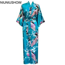 Plus Size S-XXXL Bathrobe With Belt Japanese Geisha Yukata Kimono Women Satin  Robe Sexy Sleepwear Flower S02M 705195d9a