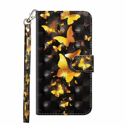 Chinese  3D Butterfly Leather Wallet Case For Moto E5 Z3 Play Galaxy (J3 J7 Y3 Y7)2018 Lace Flower Panda Tree Bird Flip Cover Cartoon Wolf Owl Coque manufacturers