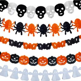 $enCountryForm.capitalKeyWord NZ - Spider Pumpkin Scary Witch Garland Halloween Paper Haunted House Prop Useful Party Decoration Free Shipping QW8202