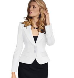 e12d43a7d3a Blazer Female Blue Women Suit Office Ladies 2017 New Spring Slim Top  Elegant Short Design Clothes Two buckle suit woman coat 4XL