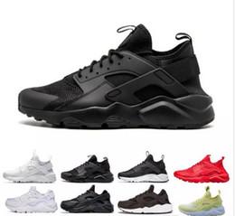 low priced 9ba16 54c8c 2018 Huarache Ultra 4.0 Hurache Running Shoes air sole Triple White Black  Huraches Sports Huaraches Sneakers Harache Mens Womens Trainers