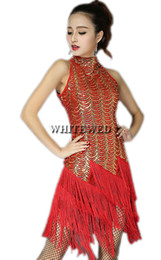 Whitewed Sequin Fringe Great Gatsby Flapper Dresses Halloween en la década de 1920 de cuello alto Vintage Bling Flapper Dresses Disfraces para Halloween