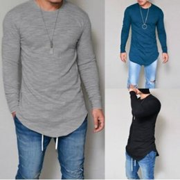 0bfbd058f Swag Shirt wholeSale online shopping - 10 Colors Fashion Men Extended T  shirt Longline Hip Hop
