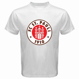 0af110d73dd New St Pauli FC Sankt Pauli Red Logo Men s White T-Shirt Size S M L XL 2XL  3XL