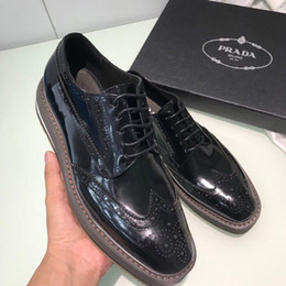 Thick Soled Wedding Shoes NZ - Thick-soled business shoes 008402 Men Dress Shoes Moccasins Loafers Lace Ups Monk Straps Boots Drivers Real leather Sneakers Shoes