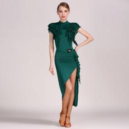 51ea6decc96e 3 colors latin dance dresses for sale Dress for Latina costume the dance  costume salsa latin dress fringe tango top skirt