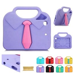 Kids tie shirts online shopping - Lovely Kids Safe Tie Shirt Handheld EVA Foam Shockproof Cover Case For iPad mini Air Pro quot