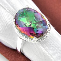$enCountryForm.capitalKeyWord Canada - New Gadget Light 925 Silver Rings Unisex Holiday Gifts Sunlight Fire Mystic Topaz Ring Jewelry CR0369