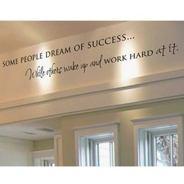 Static work online shopping - sticker decor Wake Up Work Hard Dreams Motivational Vinyl Sticker DIY Decorative Inspirational Quote Wall Decal Home Office Decoration