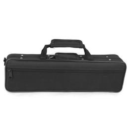 Naylon Yastıklı Flüt Çantası Taşıma Çantası Kapağı Omuz Askısı 39 x 7 x 11 cm Siyah