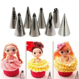 $enCountryForm.capitalKeyWord Australia - 8 PCS set Silicone Kitchen Accessories Icing Piping Cream Pink Pastry Bag + 6 Stainless Steel Nozzle DIY Cake Decorating Tips