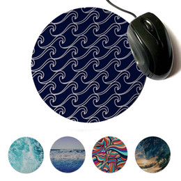 round mouse pads NZ - MaiYaCa Hot Sales Beach Ocean Water Sunset Customized laptop Gaming Lockedge mouse pad Round mouse pad 22x22cm