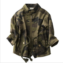 Baby Camouflage Jackets Australia - 2018 New Children's Jackets Boy Girls Camouflage Zipper Windbreaker Long Sleeve Casual Trench Baby Outdoor Coats 4-15years