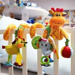 Chegada nova Brinquedos Do Bebê Bonito Musical Girafa Multifuncional Berço Pendurado Cama Sino Brinquedos Educativos Chocalhos Para As Crianças