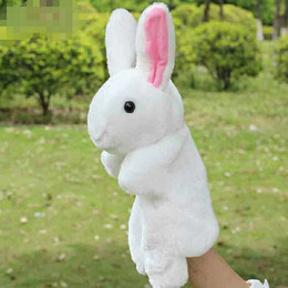 cute puppets Australia - 1 PCS Cute Lovely Soft Cartoon Rabbit Cony Hand Puppets Plush Toys Little Baby and Kid Doll Educational Doll in Early Babyhood