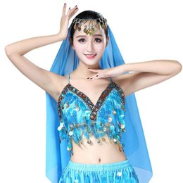 $enCountryForm.capitalKeyWord NZ - Women Sexy Sequin Halter Bra Top Salsa Belly Dance Festival Club Tribal Top Beading Coins Tassel Lace Cami Belly Dancing