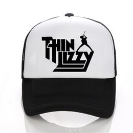 Discount metal letter hats - Heavy Metal Rock Band Thin Lizzy Baseball cap Men Music Pop Mens Trucker Cap Mesh Net Trucker Caps Hat Men Women
