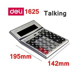 Promotional Electronics Australia - Deli Electronic calculator office financial 12 digits real talking pocket solar calculator with battery dual power gift