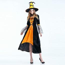 nightclub female uniforms 2019 - 2018 Nightclub Bar Sexy Witch Pumpkin Costume Cosplay Halloween Game Uniform Costume DS Dance Stage Dress Costume Suit 1