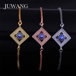 09962b4906e JUWANG Blue Evil Eye Bracelet for Woman Girls Turkey Silver Gold Rose Gold  Color Charm Link Chain Bracelet Jewelry Gift