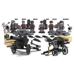 China World War 2 Military Building Blocks Set, WW2 German Army Soldiers Building Bricks Mini Action Figures Toys for Kids suppliers