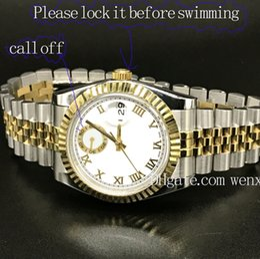 Luxury Men Watch 18k Australia - 1Colors Luxury Watch Datejust 18K Gold 36mm Stainless Steel Men 2813 Mechanical Automatic President Desinger Madam Watch Jubilee Band