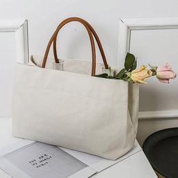 stripe canvas tote beach bags 2018 - Women Leisure Brief Shoulder Bag Large Capacity Handbag Casual Big Tote Bag Design Large Shopping Bag Beach Bags cheap s