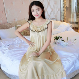 Korean Sexy Nightgown UK - Women s pajamas 328791770