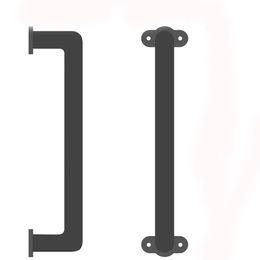 Опт Кинмад скользящий сарая дверная ручка ручки поручни Hair Bar элегантный утюг с черной отделкой для шкафов