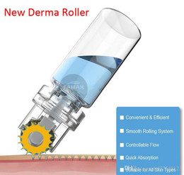 Micro Derma Rollers NZ - Tamax DR009 New Titanium Microneedle Automatic Hydra derma Roller 64 Gold Tips micro needles with gel tube