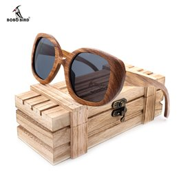 9414df583acaa BOBO BIRD New Design Vintage Zebra Wooden Sunglasses Polarized UV 400  Protect Coating Mirror Wood Sunglasses for Women as Gift