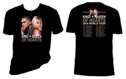 Опт Mary J Blige футболка Король Королева Сердец тур Майка пара футболка Fashiont рубашка бесплатная доставка топ tee
