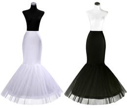 Vente en gros 2018 pas cher un cerceau jupon crinoline pour robes de mariée sirène à volants jupon sirène slip accessoires de mariée