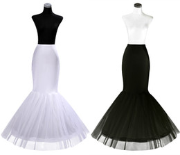 Chinese  2019 Cheap One Hoop Petticoat Crinoline for Mermaid Wedding Dresses Flounced Mermaid Petticoat Slip Bridal Accessories manufacturers