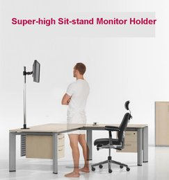$enCountryForm.capitalKeyWord Canada - L139 Super-high Desktop Sit-Stand 17-27 inch Monitor Holder Stainless Steel TV Mount Stand Column Height 90cm Loading 10kgs