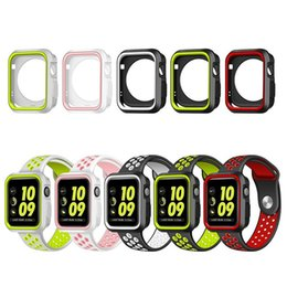 $enCountryForm.capitalKeyWord NZ - Silicone Dual Colors Strap for Apple Watch Protective Case & Band for iWatch 1 2 3 38MM 42MM Cover Frame