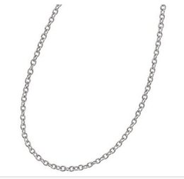 Long 24 Inch Chain Australia - Adjustable Stainless Steel 60cm   24 inch Necklace Link chain With Flat Lobster 60cm long Clasp Fit For Pendant Jewelry Making
