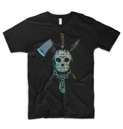 Discount freddy jason mask Jason Mask T Shirt Halloween Horror Friday The 13th Killer Freddy Krueger Quality T Shirts Men Printing Short Sleeve