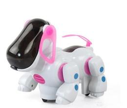 nueva venta caliente perro eléctrico con luz y máquina de la música sacudió la cabeza y la cola de juguetes educativos para niños al por mayor suministro de envío gratuito