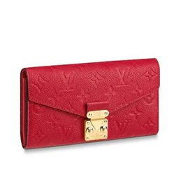 korean bow bags 2018 - METIS WALLET M63728 RED Real Caviar Lambskin Chain Flap Bag LONG CHAIN WALLETS KEY CARD HOLDERS PURSE CLUTCHES EVENING d