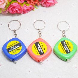 yellow agate wholesale NZ - Mini small tape measure one meter tape key chain creative gift portable key clasp tape measure