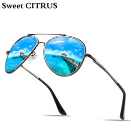 metal sweet boxes 2019 - Sweet CITRUS Classic Aviation Men's Polarized Sunglasses Metal Frame Driving brand sun glasses Oculos de sol mascul