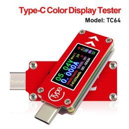 $enCountryForm.capitalKeyWord Australia - TC64 Type-C color LCD USB Voltmeter ammeter voltage current meter multimeter battery PD charge power bank USB Tester