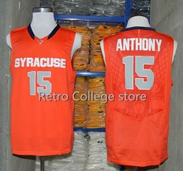 free shipping  15 Carmelo Anthony Syracuse Orange College Mens Basketball  Jerseys Sports All Stitched Top quality embroidery jersey ad1bdda2c