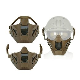 Mask for airsoft paintball online shopping - Airsoft Tactical Half Face Mask Paintball Accessories Protective Ski Masks Outdoor Sports Helmet Fittings With Mix Color lm jj