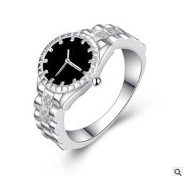 Women Fashion Jewelry Watch Set NZ - wholesale freeshipping 2pcs lot 2018 new watch ring European female jewelry supply Silverplated jewelry Personality ring women fashion ring