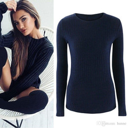 940a3839976 Wholesale-2016 Winter Women Christmas Sweaters and Pullovers Fashion O-neck  Knitted Jumper Top Back Sexy Strap Crossed Slim Sweater